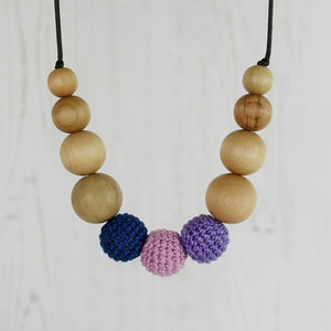 Balmoral: Highland Fling Wooden Teething Necklace, Beech - Pebbles and Lace