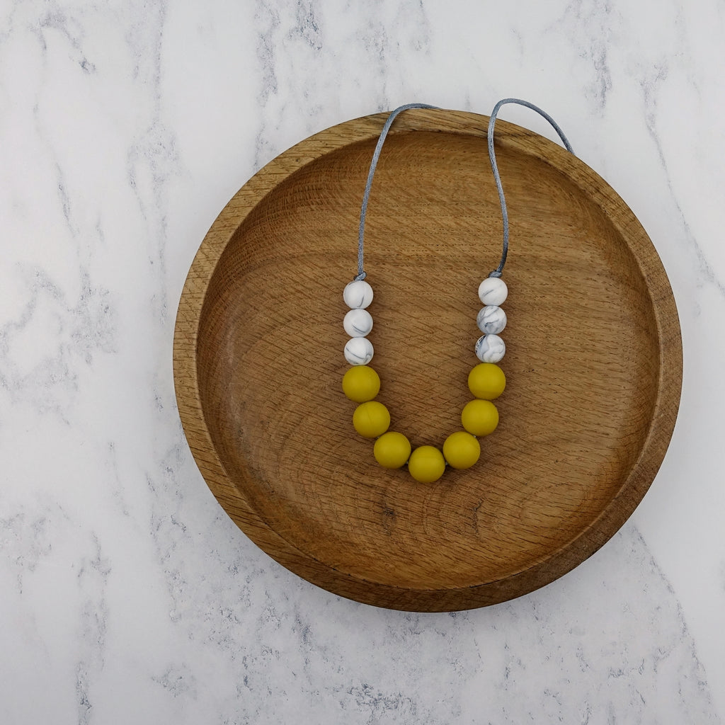 Mustard Marvel: Bubbles Teething Necklace