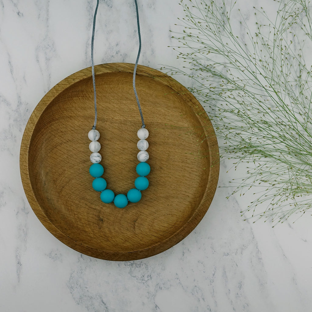 Teal Fancy: Bubbles Teething Necklace