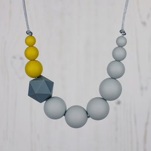 Nuthatch: Sky High Silicone Teething Necklace - Pebbles and Lace