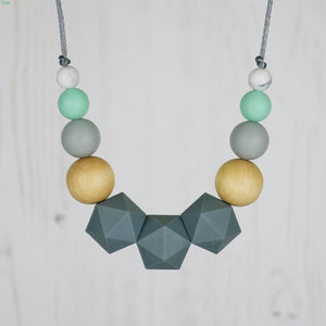 The Caterpillar: Wonderland Teething Necklace - Pebbles and Lace