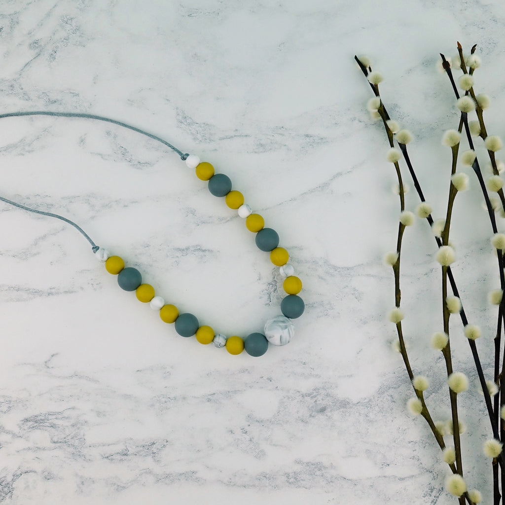 Mustard Storm: Waves Teething Necklace