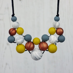 Autumn Days: Woven Silicone Teething Necklace - Pebbles and Lace