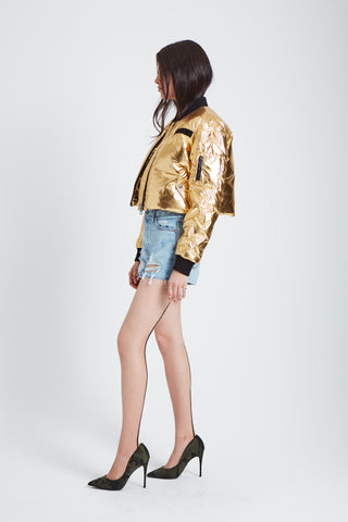 The Spacesuit Bomber Jacket - Gold