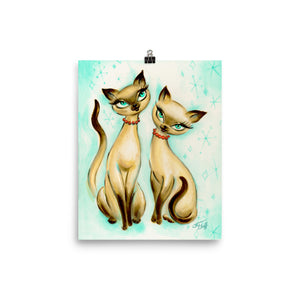 Siamese Cats • Art Print