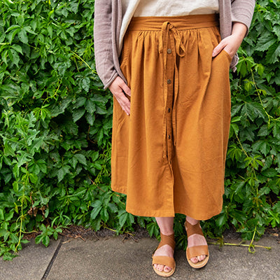 Clever Cleo Skirt Hack in Silk Noil
