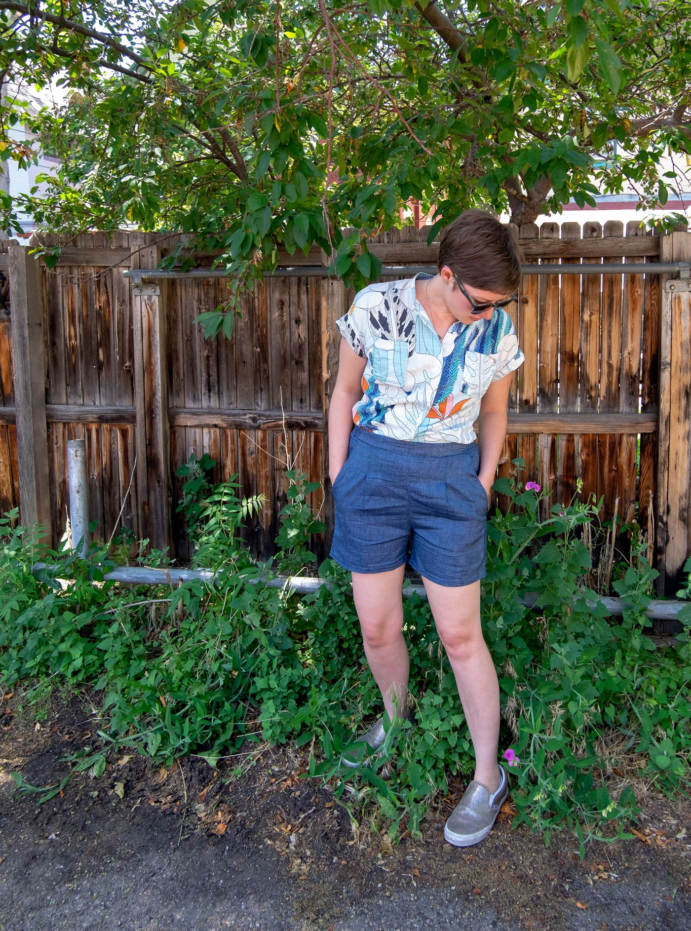 Lucy's Linen Denim Emerson Shorts Sewing Pattern