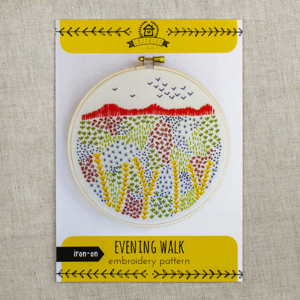 Evening Walk Embroidery Pattern
