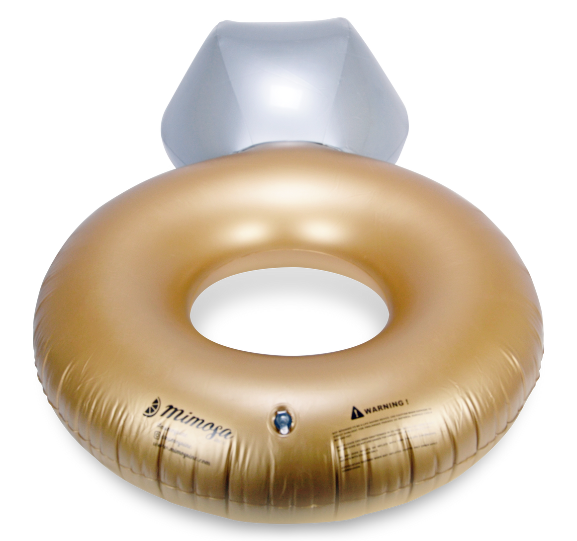 Inflatable Diamond Engagement Ring Pool Float