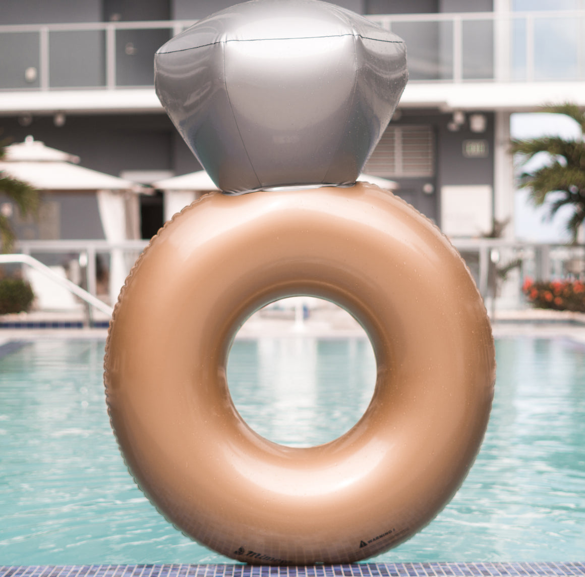 Diamond Engagement ring pool float by Mimosa Inc
