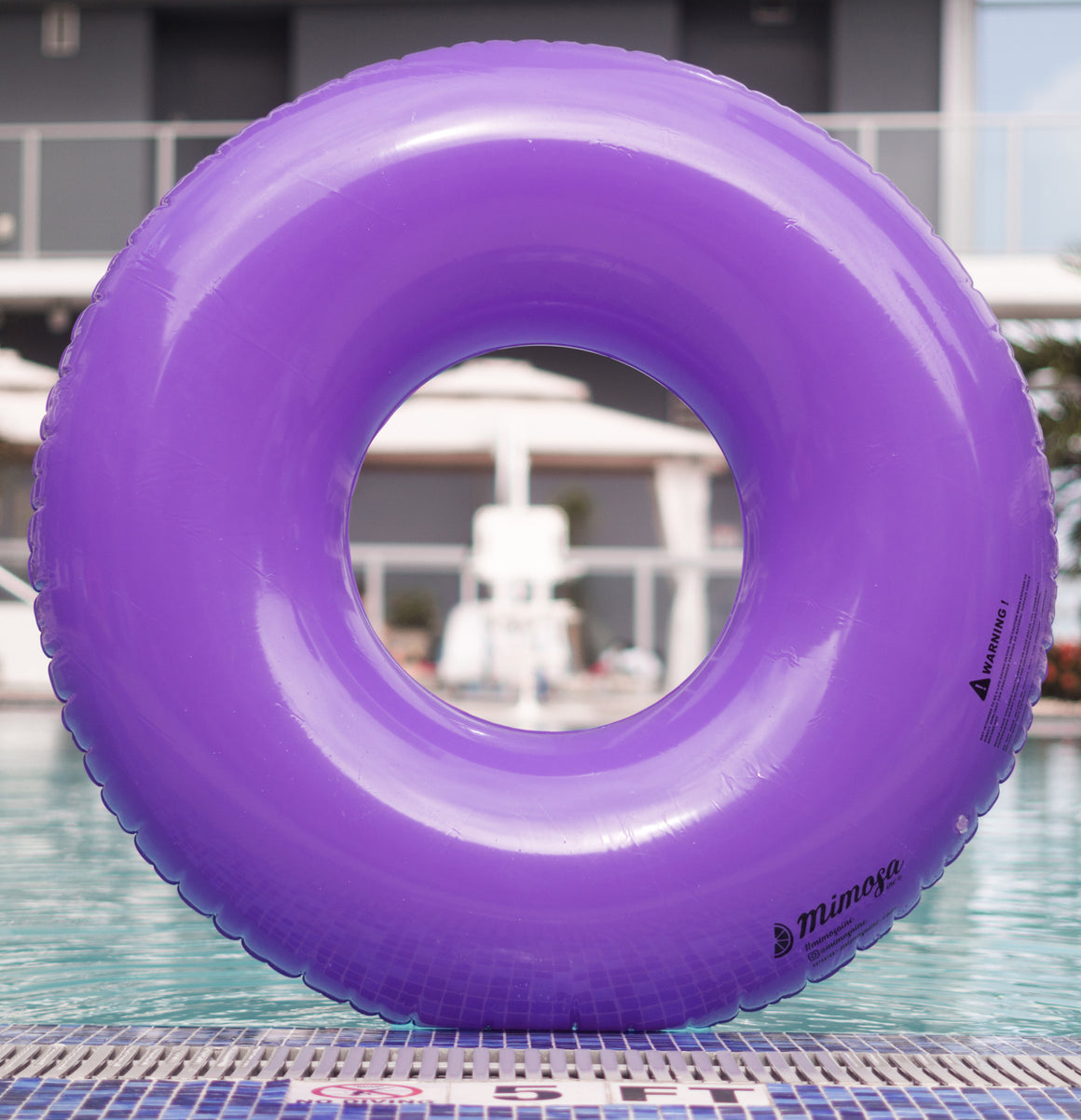 purple tube pool float