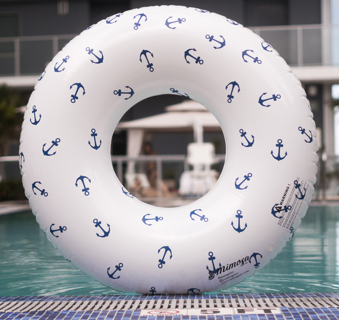 Anchors Away Round Tube Pool Float
