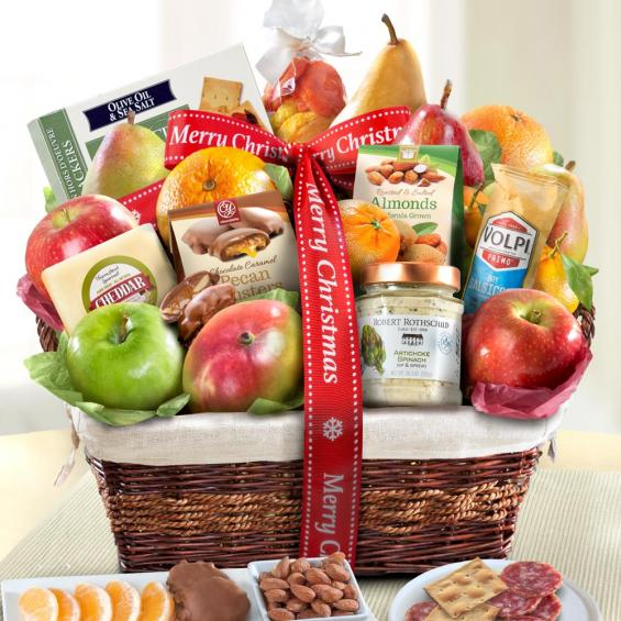Merry Christmas Abundance Fruit Basket - CFHAA4102X_18