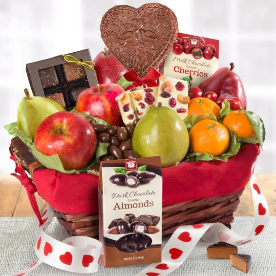 Valentine's Day Fruit and chocolate Basket - CFG5025V_19
