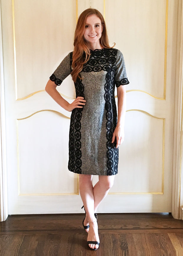 Tweed and Lace Dress