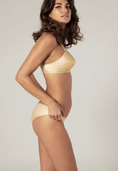 GOLDWYN GOLD METALLIC CREPE BIKINI