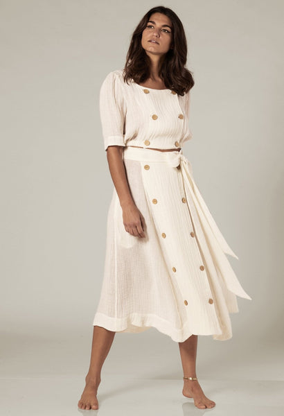 DIANA WHITE GAUZE SKIRT