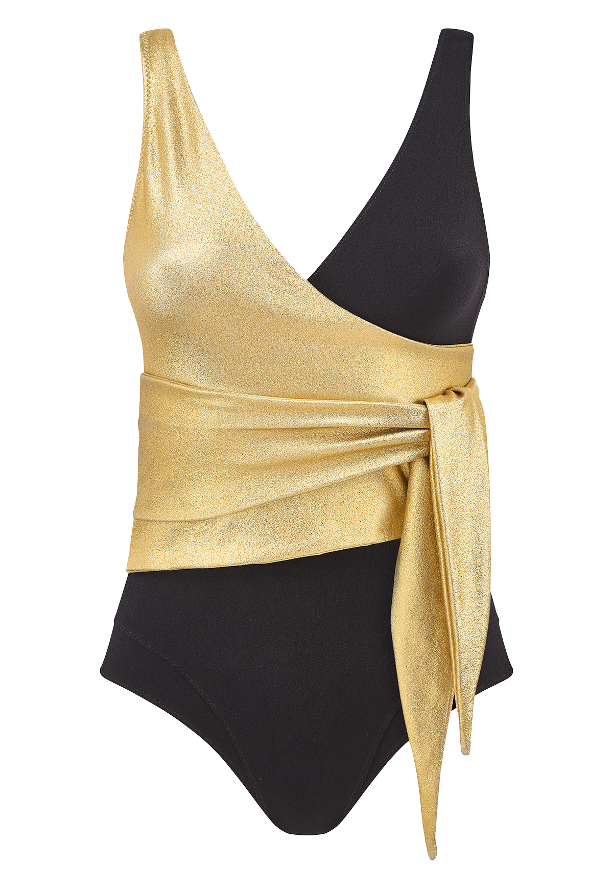 DREE LOUISE GOLD/BLACK CREPE MAILLOT