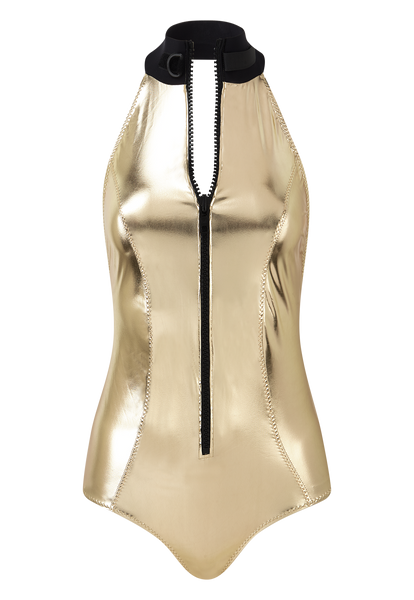 LISA MARIE WHITE GOLD PVC MAILLOT