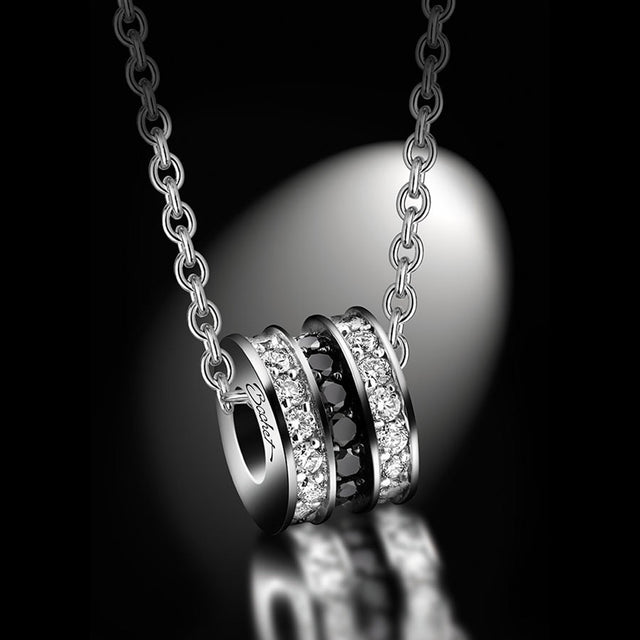 Women's Collection Pendant 'Scroll In Love' Large White Gold