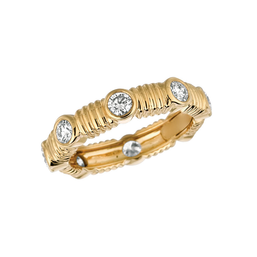 #ALACARTEBRIDAL GK YELLOW GOLD AND DIAMOND WOMEN'S ETERNITY BAND
