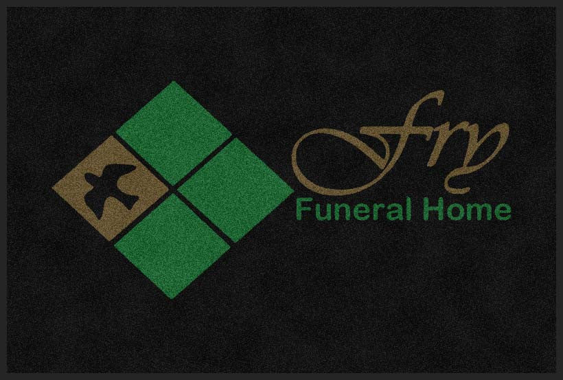 Fry Funeral Home 4 X 6 Rubber Backed Carpeted HD - The Personalized Doormats Company