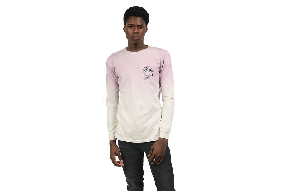OFFERING DIP DYED LS TEE - 1994371 MENS SOFTGOODS STUSSY