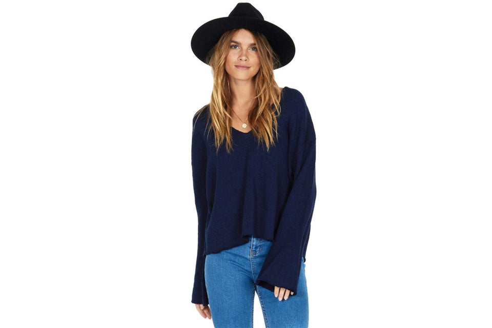 AFTER SUNDOWN SWEATER-A805IAFT WOMENS SOFTGOODS AMUSE SOCIETY DARK NAVY M