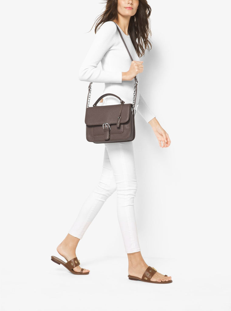 MICHAEL KORS Cooper Large Leather Satchel - PitaPats.com