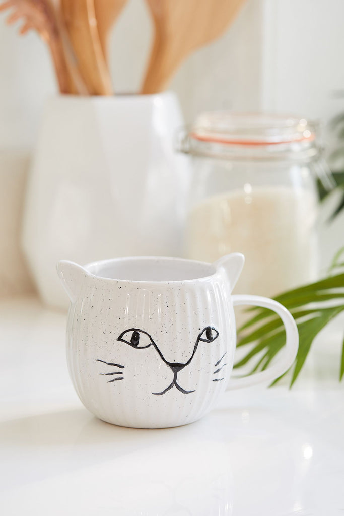Crafty Kitty Speckled Cat Ear Mug
