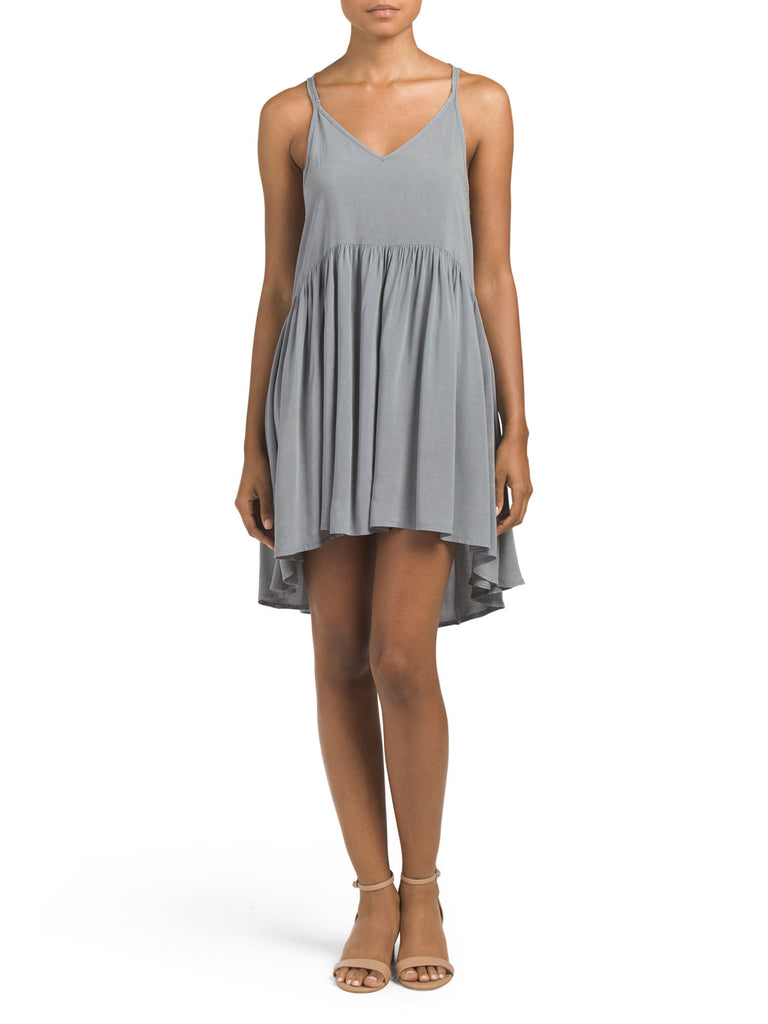 DREAMERS Juniors V Neck Babydoll Dress - PitaPats.com