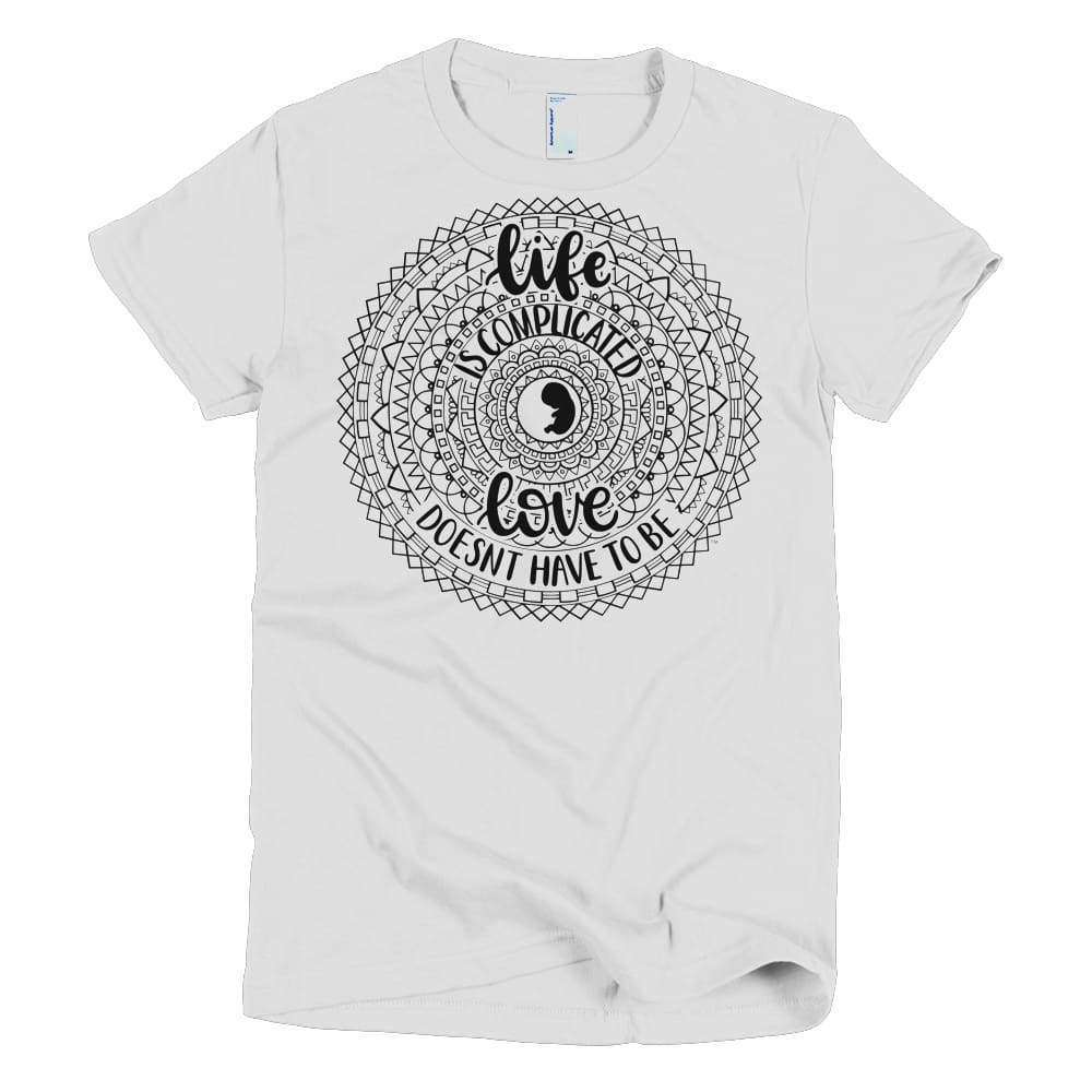 Life is Complicated Young Women's Slim T - LifeCulture Apparel pro life shirts