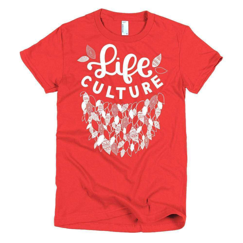 LifeCulture Leaves Young Women's Slim T - LifeCulture Apparel pro life shirts