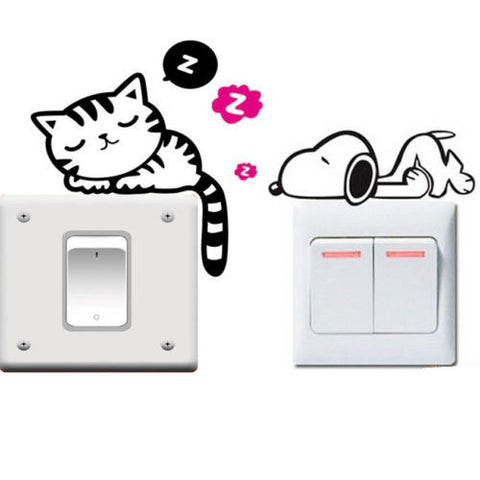 Cat and Snoopy Dog decals