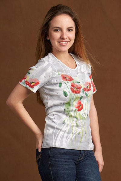 Poppy Field Women's T-Shirt by Cactus Bay
