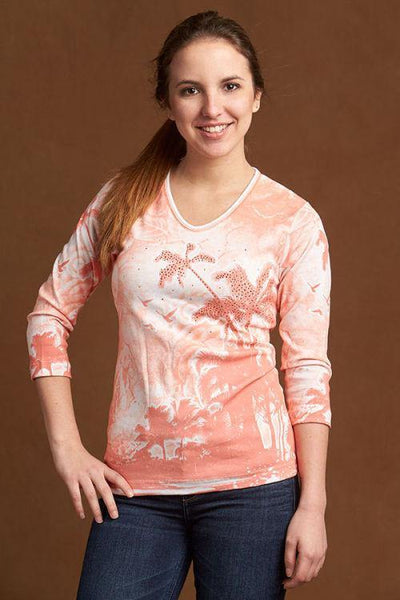 Sunset Palms Women's Top by Cactus Bay