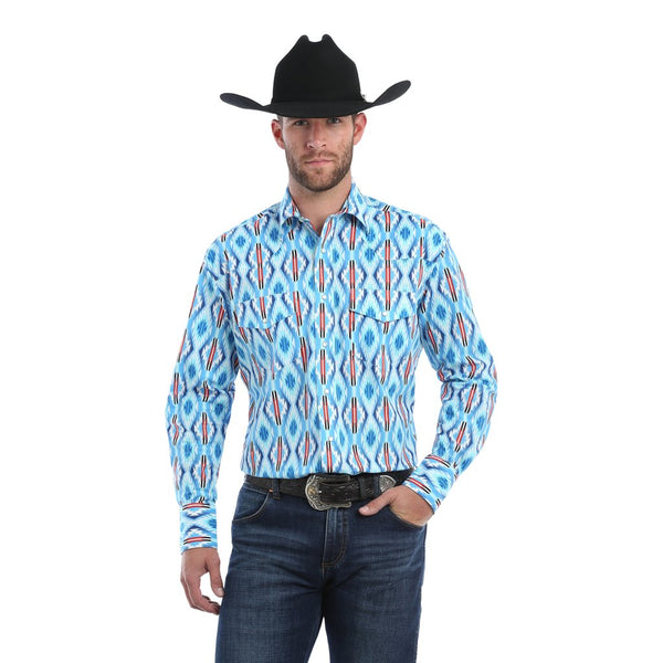 Wrangler Checotah Long Sleeve, Turquoise