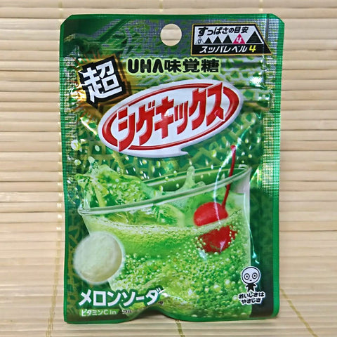 Shigekix Super Sour Candy - Green Melon Soda