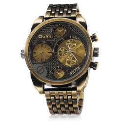 Luxury Brand Men Full Steel Watch Golden Big Size Antique Male Casual Watches-watches-StyloMylo World