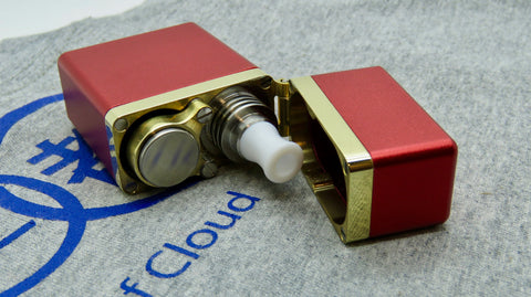Gimmick by Athea Mods <br>Red <br>Aluminium & Brass Mod Box