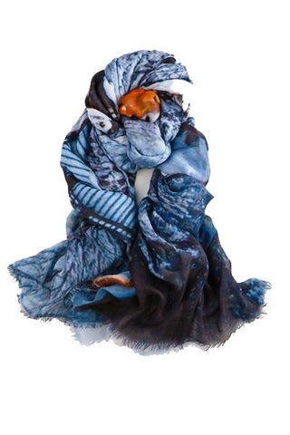 Elina - Designer Luxury scarf by Sheila Johnson Collection