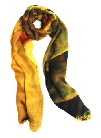 Golden Leaves - Designer Luxury scarf by Sheila Johnson Collection