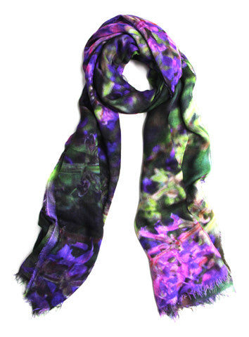 Lavender Fields - Designer Luxury scarf by Sheila Johnson Collection