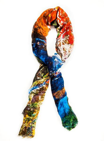 Peaceful Walk - Designer Luxury scarf by Sheila Johnson Collection
