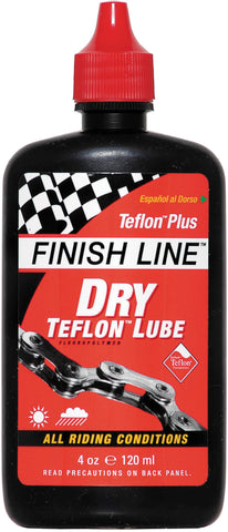 FINISH LINE - DRY Teflon Cycle Chain Lube 8oz / 240ml Workshop Bottle