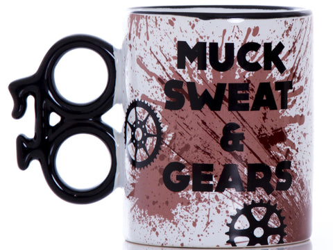 Muck Sweat & Gears Boxed Gift Mug: Cyclists, Cycling, MTB, Mountain Biking, Bike