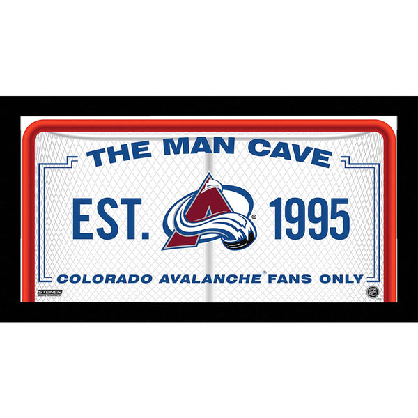 Colorado Avalanche Man Cave Sign 6x12 Framed Photo