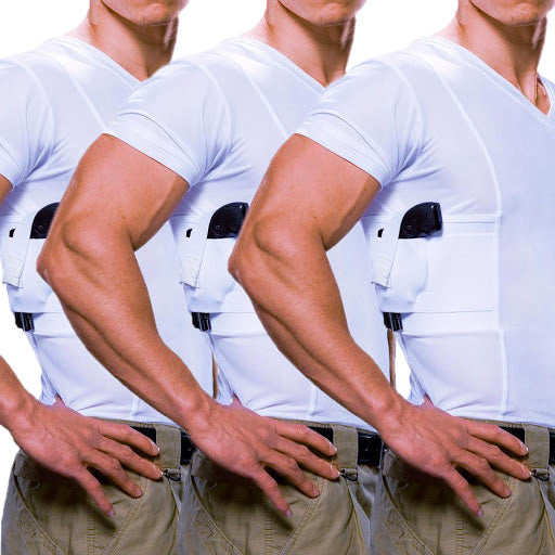 Men's Concealed Carry V-Neck Tee Multi-Pack - Undertech Undercover