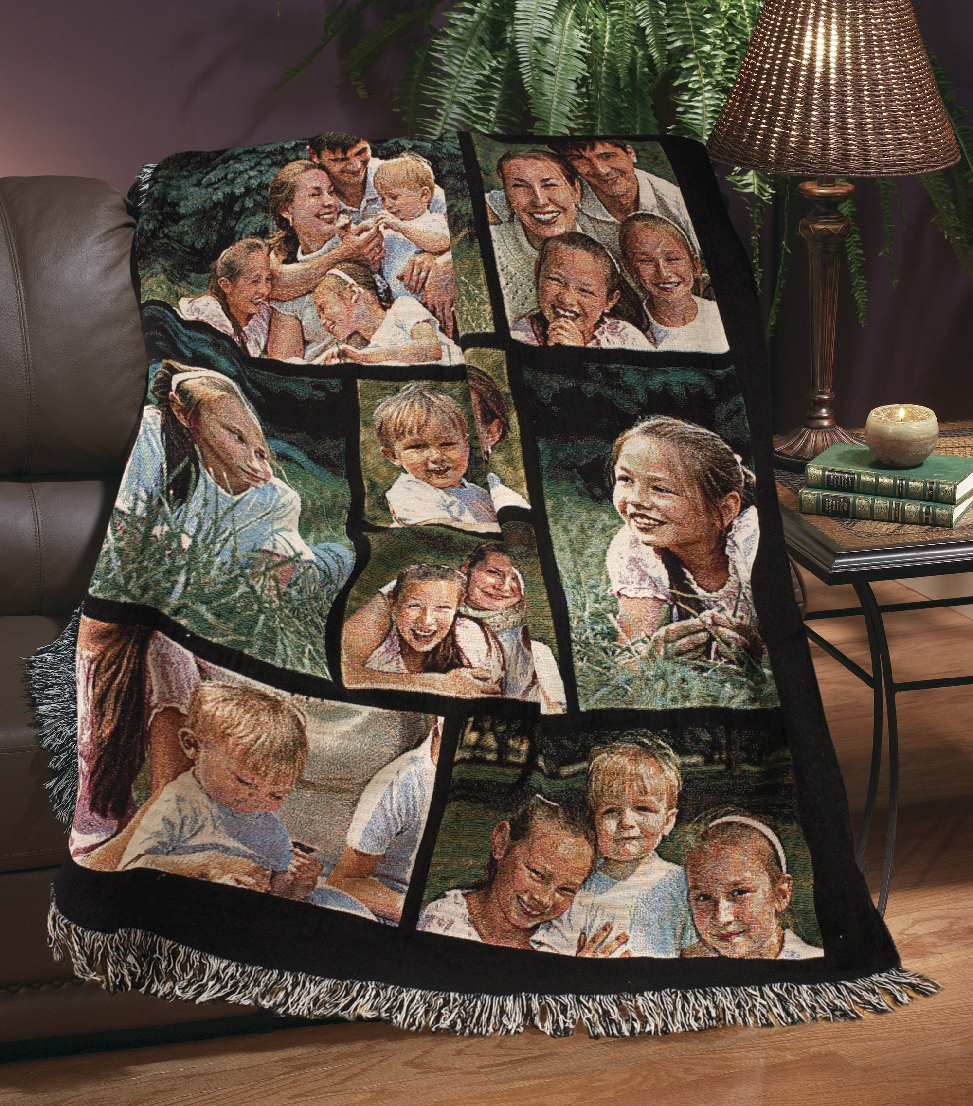 "Jacquard Woven Full Service Collage Blanket - 50"" x 60"" (Medium)"