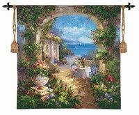 "Mediterranean Arches II - 35""x35"" Tapestry Wall Hanging"